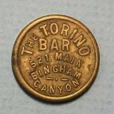 Bingham Canyon Utah Torino Bar 521 Main Good for 5c Trade Brass 21mm Token