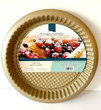 New listing Chicago Metallic High quality bakeware gold round tart pan Nwt holiday baking!