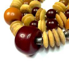 Old Antique Bakelite and Yak Bone beads Prayer Necklace
