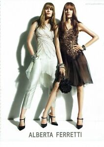 Alberta Ferretti Original Magazine Print Ad Advert Long legs high heels Footwear