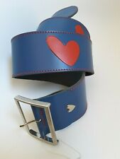 NEW AGATHA RUIZ DE LA PRADA LEATHER BLUE AND RED HEARTS BELT size 95