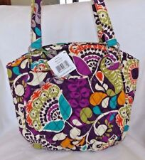 VERA BRADLEY GLENNA OVER THE SHOULDER PURSE PLUM CRAZY -  NEW WITH TAG