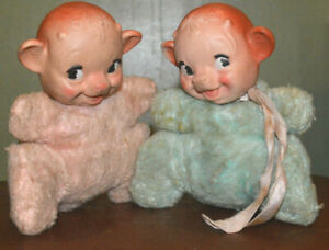 1957 BORDEN ELSIE THE COW'S TWIN BABIES LARABEE AND LOBELIA DOLLS