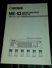 Boss Me-10 Guitar Multiple Effects Pedal Owners Manual, Original, ExCondition