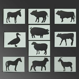 Animal Stencil Farm Cow Mylar Sheet Painting Wall Art Craft Airbrush 190 Micron