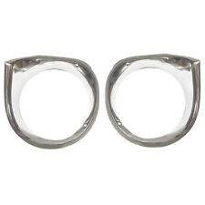 1962 63 64 Chevy Nova Headlamp Head Lamp Light Bezels Pair Right & Left Side