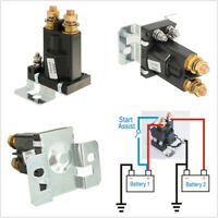12V 4Pin 500A-AMP Dual Battery Isolator Car Relay Starter On/Off Power Switch