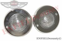 NEW VINTAGE CLEAR LENS BACK UP PARKING LIGHT LAMP JEEP WILLYS CJ UNIVERSAL
