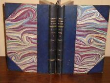 1er Empire: Mémoires du Comte BEUGNOT, 1866, 2 vol. 1/2 maroquin de Belz-Niédrée