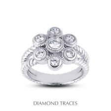 Certified Diamonds 950 Plat. Right Hand Ring 1/2 Ctw E Vs2 Round Cut Earth Mined