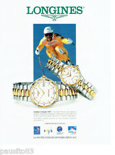 PUBLICITE ADVERTISING 056  1994  Longines montre Conquest VHP chrono officiel JO