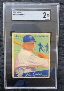 1934 Goudey  Lou Gehrig #61 SGC 2 Good