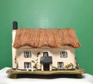 Vintage PAULINE RALPH Thatched Cottage #2 MUSIC JewelryTrinket BOX REUGE
