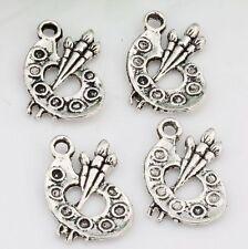 30pcs Antique Silver alloy Paint Palette Charms pendants DIY Jewelry 14 x 17mm