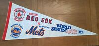 1986 World Series Pennant New York Mets-Boston Red Sox Gem Mint