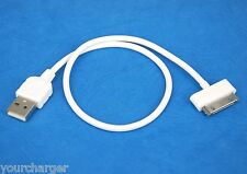 1ft 30cm Short High Speed Fast Charging ONLY USB Cable WHITE for iPhone 4s 4 3GS