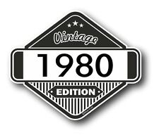 Vintage Edition 1980 Classic Retro Cafe Racer Style Vinyl Motorcycle car sticker