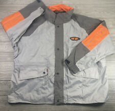 Harley Davidson Men Rain Gear Riding Suit Jacket Pants Hood Reflective Size 4XL