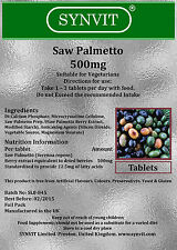 SYNVIT® Saw Palmetto 500mg x 360 Tablets