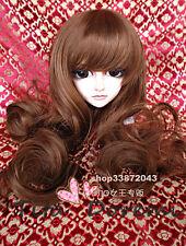 Bjd Doll Wig 1/3 8-9 Dal Pullip AOD Z AE SD DOD LUTS Dollfie Doll brown Toy Hair