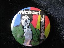 Michael Jackson-UK Prism Foil-Multi-Color-Pin-Badge-Button-80's Vintage-Rare