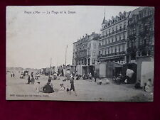 Carte Postale Belgique, Heyst, La Plage et la Dique, Knokke-Heist, 1903 gelaufen