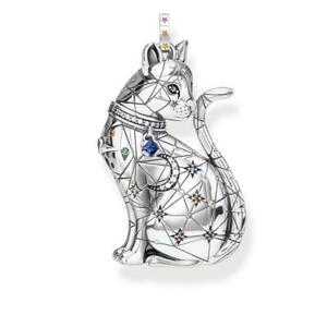 Thomas Sabo Anhänger 925er Silber Sternenbild Katze Korund Zirkon PE857-340-7