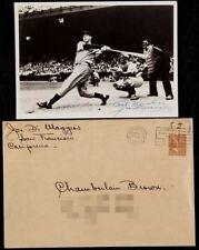 1940 Joe Dimaggio Early Career Signed Beautiful Original Vintage Photo JSA COA
