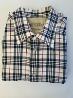 RM Williams Stockyard Relaxed  Fit Long Sleeve Shirt Sz L Blue Red & White Check