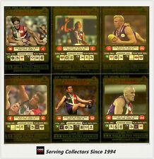 2001 Teamcoach Trading Cards Gold Parallel Team Set Fremantle (6)