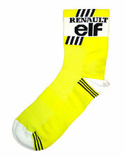 RENAULT ELF RETRO CYCLING TEAM SOCKS - Vintage - Fixed Gear - Made in Italy