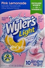 Wyler's Light Sugar Free Pink Lemonade Singles - Drink Mix (3 Pack) 10 Count Box