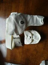 Cinturone bianco Polizia con fondina e porta manette