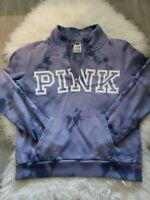 Victorias Secret PINK Half Zip  Pullover Size Small P  Purple Sweater.