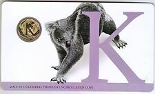 2015 Alphabet Coin Series - Koala - $1 Coloured Frosted Coin