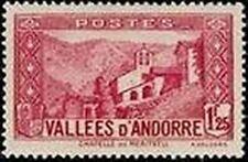 "ANDORRE FRANCAIS 39 A "" CHAPELLE NOTRE-DAME DE MERITXELL 1 F. 25 "" NEUF xx TTB"