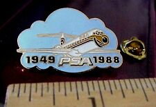 PSA AIRLINES BOEING B-727 JET AIRPLANE 1949-1988 MADE IN TAIWAN PIN