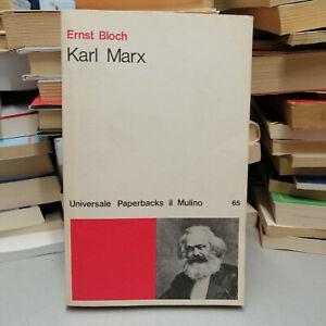 KARL MARX, Ernst Bloch, Il Mulino 1977 tascabile