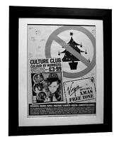 CULTURE CLUB+Colour Numbers+POSTER+AD+RARE ORIGINAL 1983+FRAMED+FAST GLOBAL SHIP