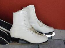 vintage PATIN à GLACE en CUIR 39 STRUB sheffield ENGLAND Schlittschuhe ICE skate