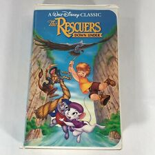 The Rescuers Down Under Walt Disney Black Diamond Classics Collection VHS Tape
