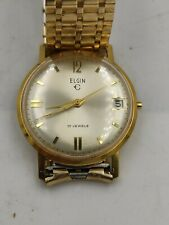 Vintage ELGIN Men's Wristwatch not runni Self-Winding 17 Jewels MADE IN GERMANY.