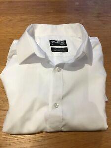 """Debenhams Collection Men's White Shirt 16"""" Collar Pure Cotton Tailored Non-Iron"""