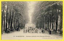 cpa Belle Animation 02 - SAINT QUENTIN en 1907 (Aisne) Avenue des CHAMPS ÉLYSÉES