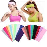 Summer Elastic Cotton Basketball Sweatbands Yoga Headband Gym Hair Band Ribbon