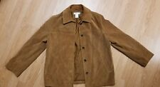 J CREW  - Women's Leather Suede Jacket  Small Camel color
