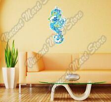 "Seahorse Marine Fish Sea Ocean Abstract Wall Sticker Room Interior Decor 12""X25"""