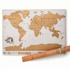 Personal Travel Scratch Off World Map Poster Traveler Vacation Log Scratch Map