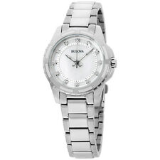 Bulova Diamond Collection MOP Dial Stainless Steel Ladies Watch 98P144