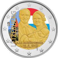 2 Euro Gedenkmünze Luxemburg 2020 coloriert mit Farbe / Farbmünze Geburt Charles